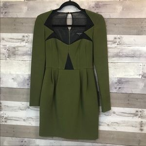 Nanette Lepore Forest Green Fitted Dress Size 0
